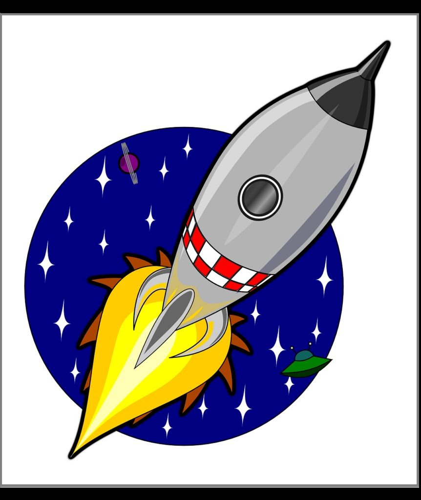 rocket, ship, launch
